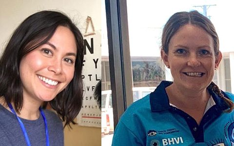 Stephanie and Sarah performing vital roles in public health optometry