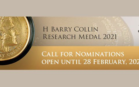 Call for nominations for 2021 H Barry Collin Research Medal