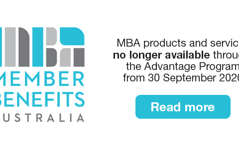 MBA products and services will no longer be available through the Advantage Program from 30 September 2020