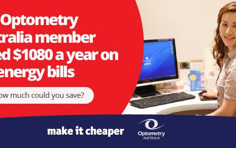 How Make it Cheaper saved an Optometry Australia member $1080 (inc GST)