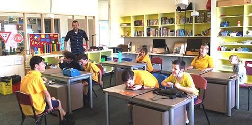 Blind school classroom - online