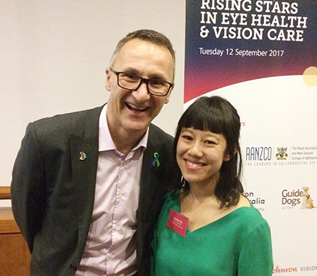 Katrina Yap with Richard Di Natale - online