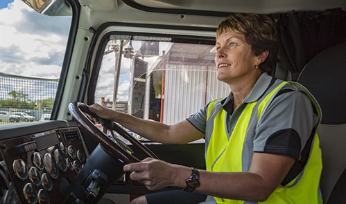 lady truck driver - online