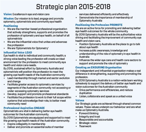 National Strategic Plan 2015-2018 - Table