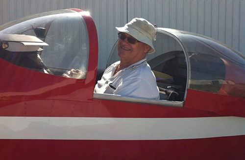Phil Anderton in red plane